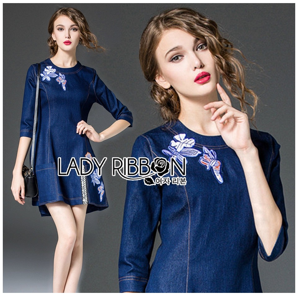Dress Lady Ribbon Korea Mini Dress มินิเดรส