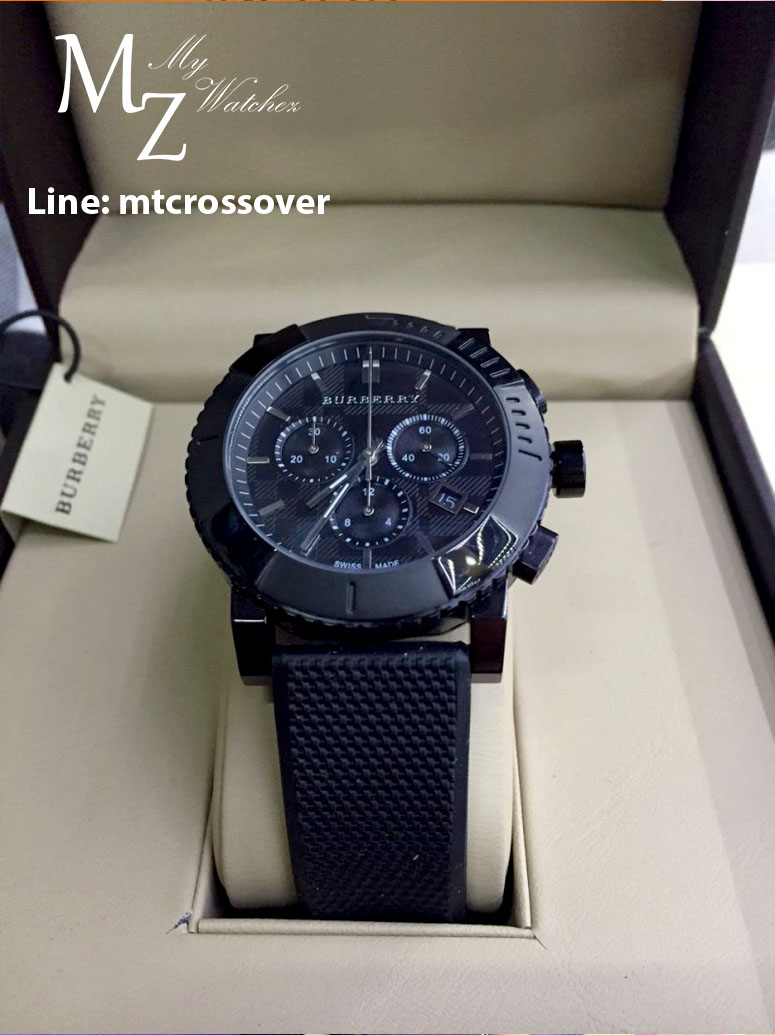 Burberry Men's BU2301 Trench Chronograph Black Chronograph Dial Watch