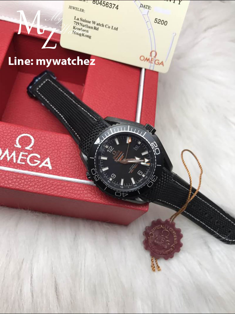 Omega Seamaster Planet Ocean 600M GMT Deep Black Collection/All Black Edition