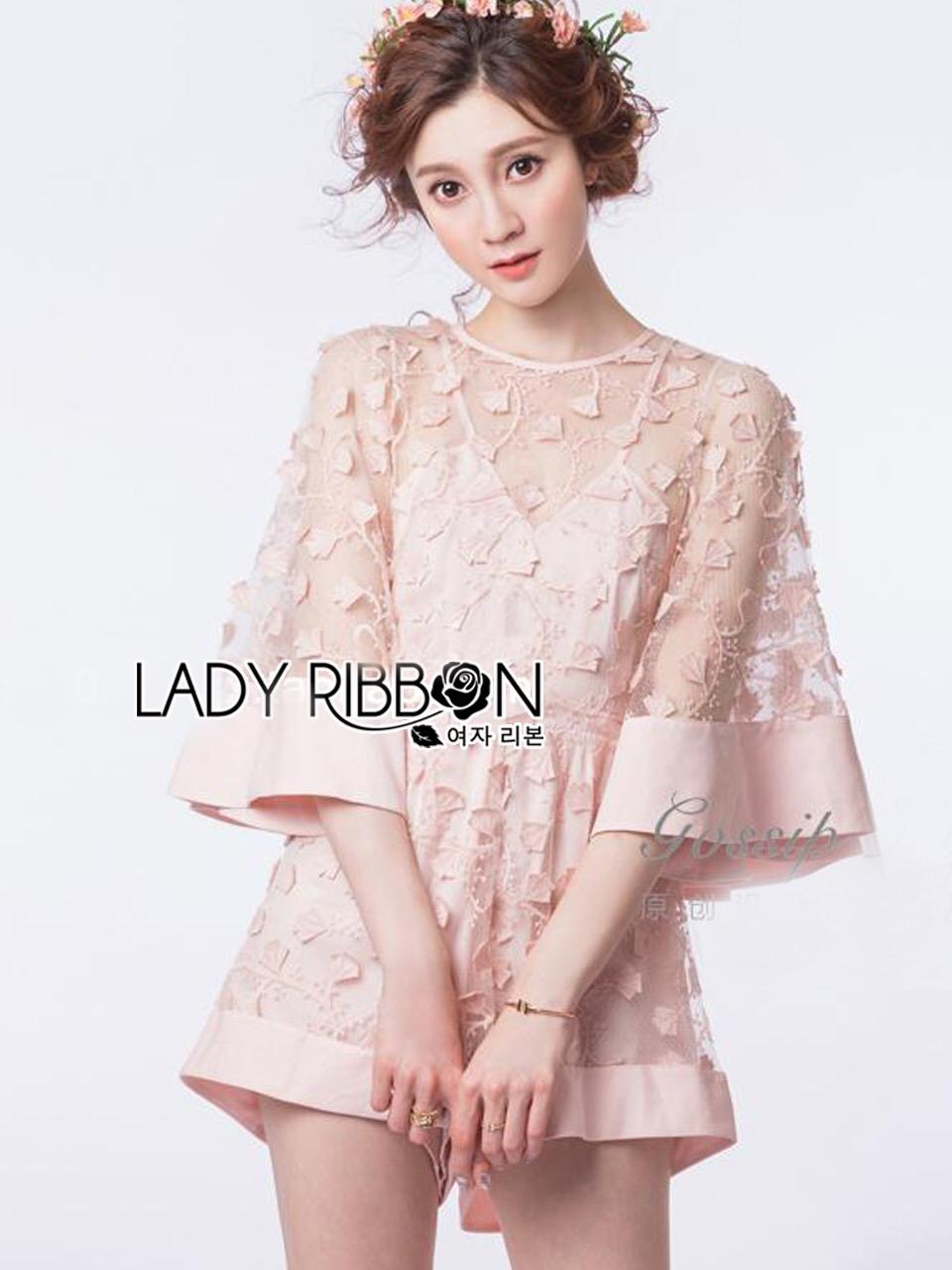 Lady Ribbon Korea Lady Ribbon's Made &#x1F380 Lady Abigail Feminine Spring Floral Printed Dress Korea Playsuit