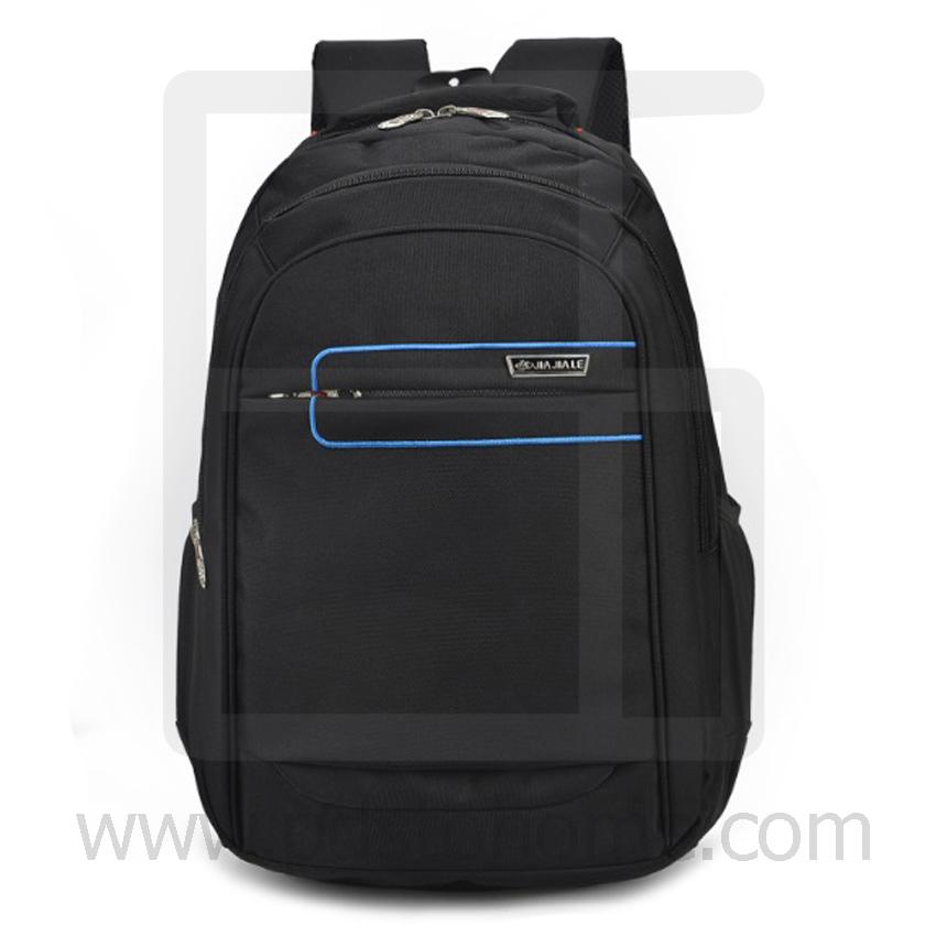 Laptop Notebook Backpack, Waterproof, Men & Women, Color Line, Classic Black