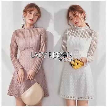 Lady Ribbon's Made Chic A-line Lace Mini Dress