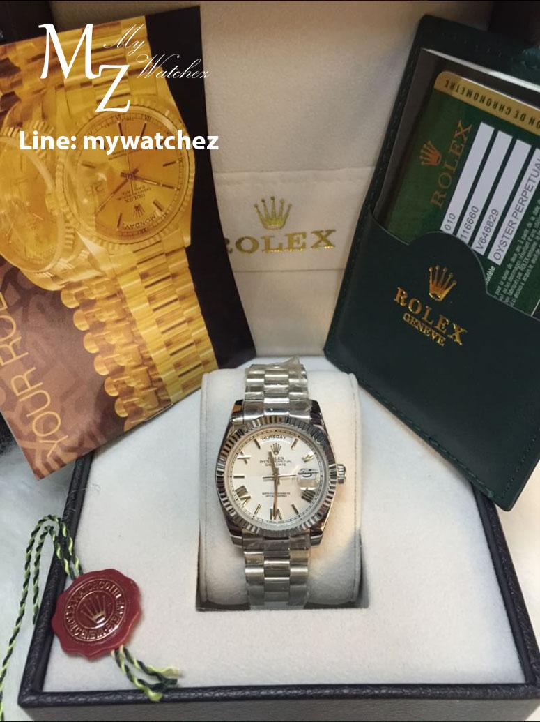 Rolex Day Date 40 Fluted Bezel Roman Dial