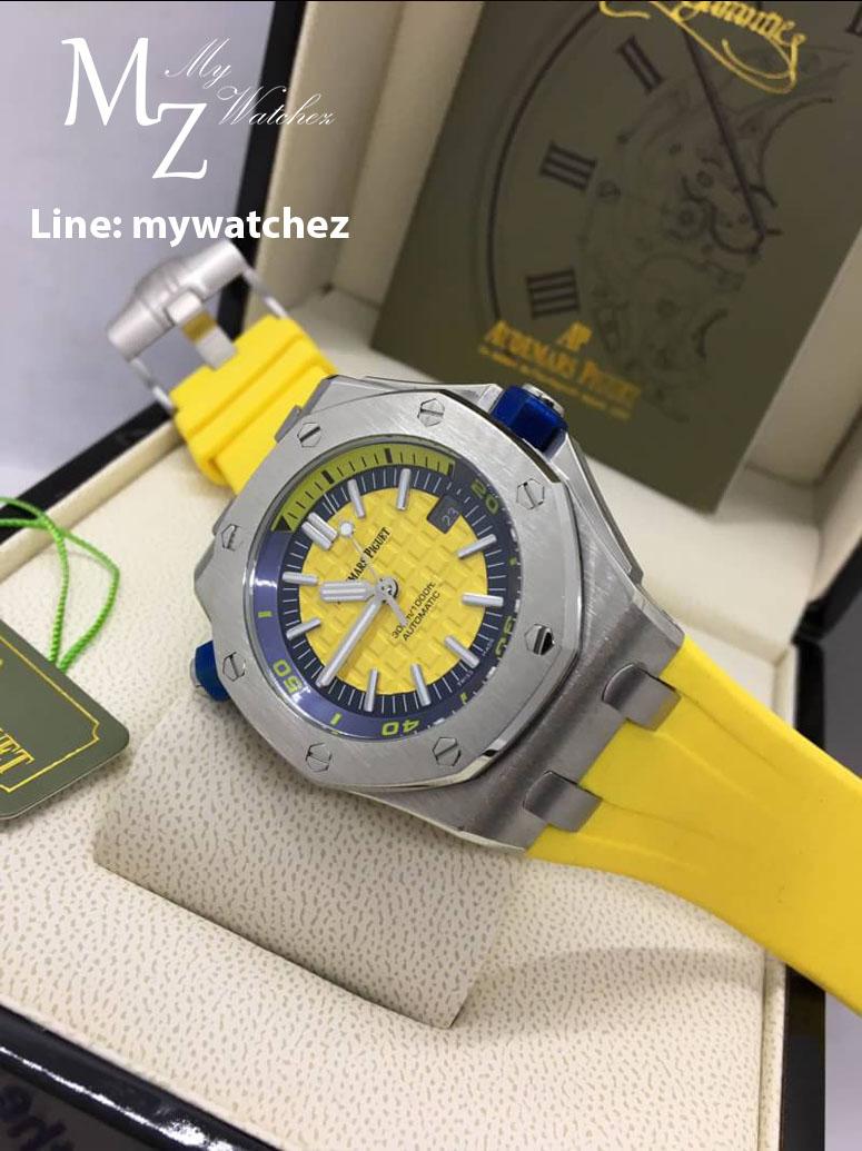 AP Royal Oak Offshore Diver 15710 ST - Yellow Dial