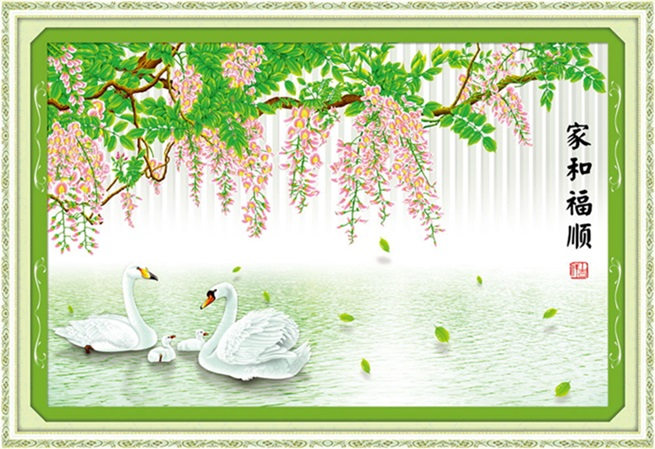 Swan lake (3D)(พิมพ์ลาย)