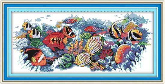 Tropical fish (ไม่พิมพ์/พิมพ์ลาย)