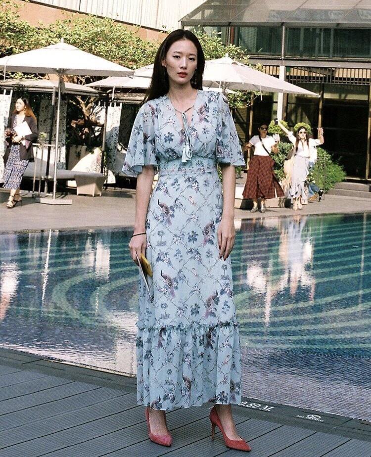 เสื้อผ้าแฟชั่นเกาหลี Lady Ribbon Thailand Morning Posh Present D.S.Y brand new collection maxi dress
