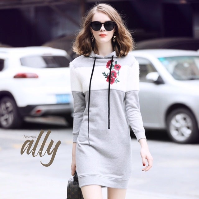 เสื้อผ้าแฟชั่นเกาหลี Lady Ribbon Thailand Normal Ally Present Embroider Flower and crystal winter new collectio