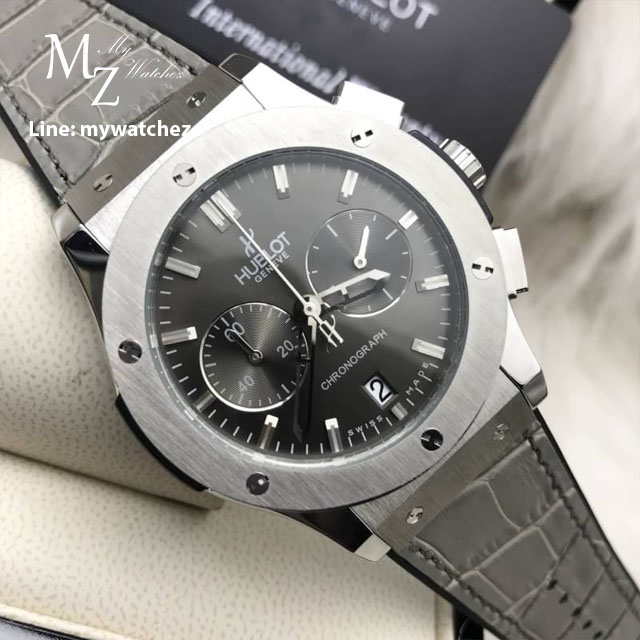Hublot Classic Fusion Racing Grey Chronograph Grey Dial Strap Watch
