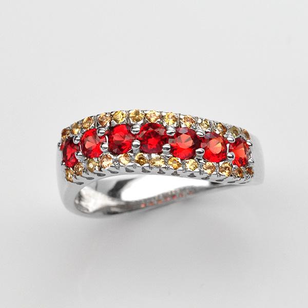 แหวนพลอยแท้ แหวนเงิน925 พลอย แซฟไฟร์ ตัวเรือน ชุบทองคำขาว ทองคำ