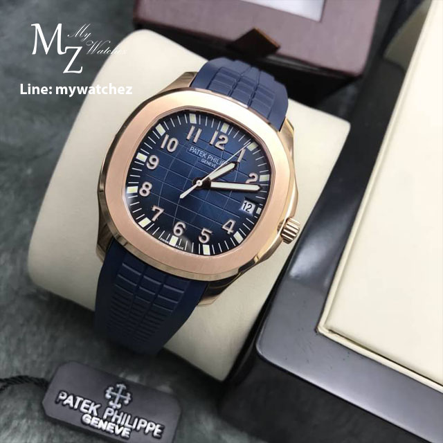Patek Philippe Aquanaut - PP 5167 Rose Gold Blue Dial