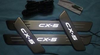 คิ้วบันไดสเตนเลส LED CX-5