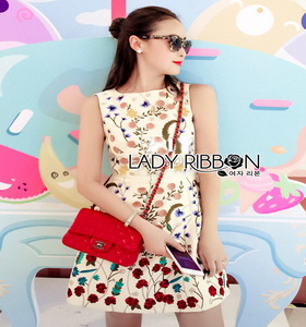 Lady Ribbol Embroidered Mini Dress