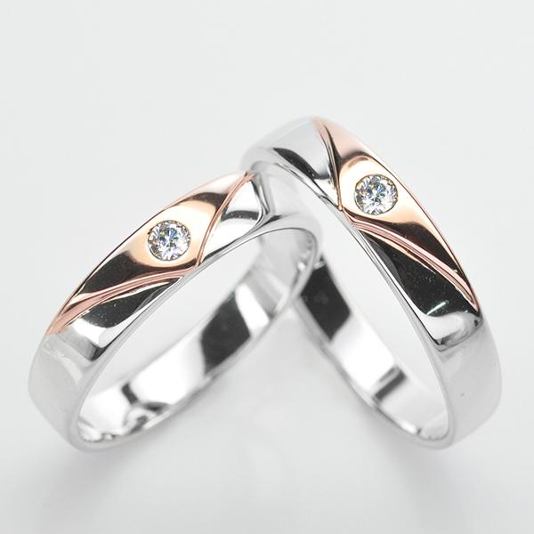 แหวนคู่รักฝังพลอยแท้ แหวนเงินแท้ 925 ชุบ 2 กบัตริย์ ฝังพลอยเพทาย