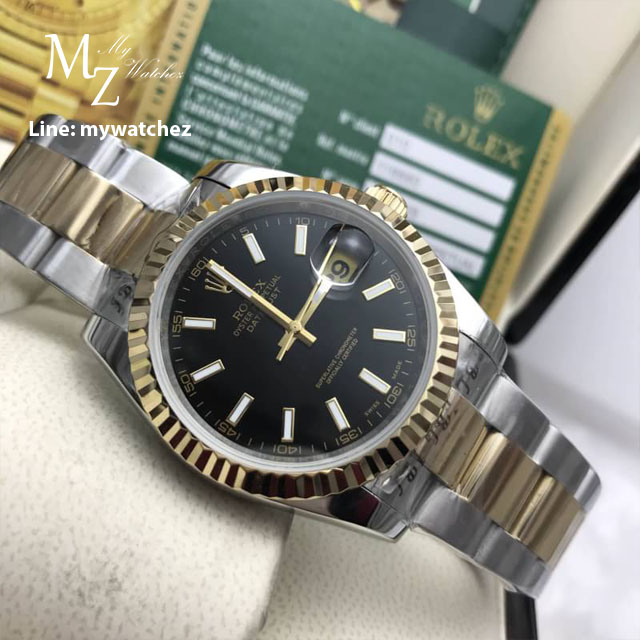 Rolex Oyster Perpetual Datejust 41 two tone Basel 2017 - Black Dial