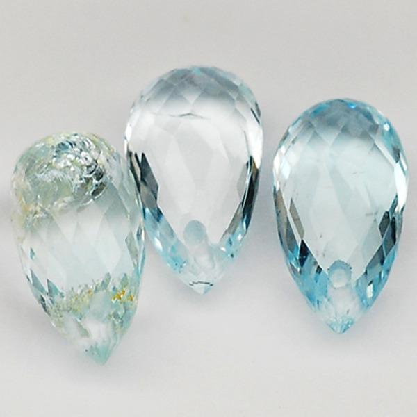 พลอยอความารีน (Aquamarine) พลอยธรรมชาติแท้ น้ำหนัก 2.90 กะรัต