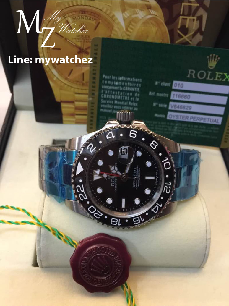 Rolex GMT Master II - Black Dial Stainless/Red GMT Ref# 116710LN