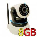 กล้อง IP cam หมุนได้ติดตั้ง 5 นาที คุณภาพสุดยอด ฟรี พร้อมใช้งาน เมมโมรี่ 8G จัดส่ง EMS FREE