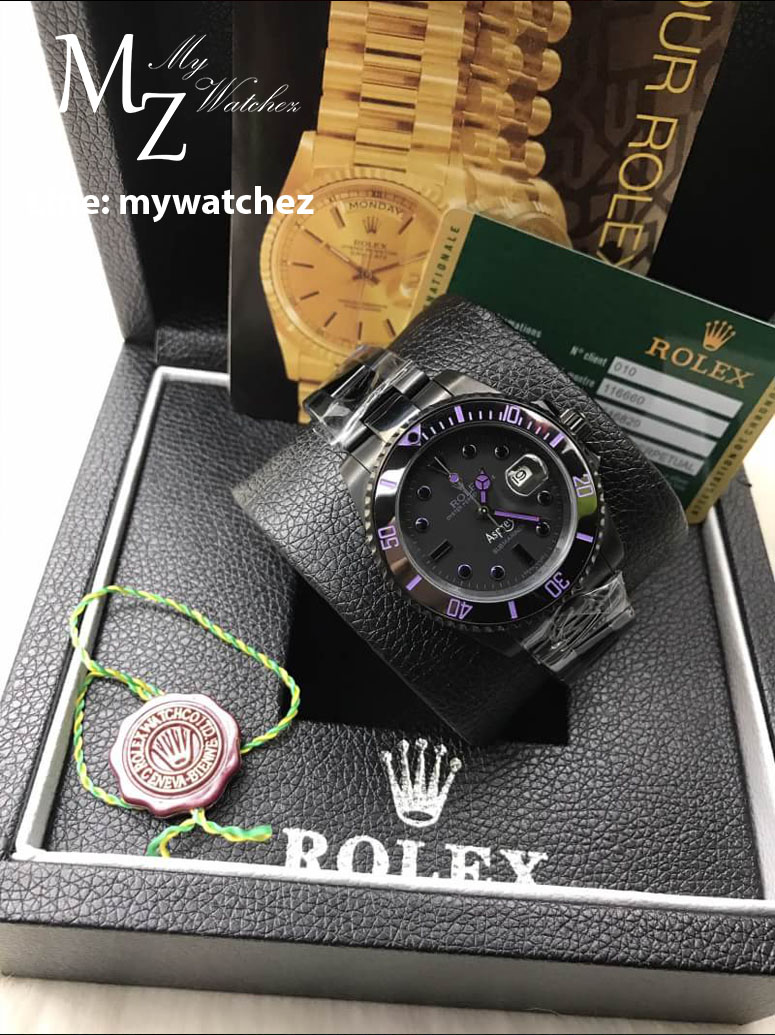 Rolex Submariner Asprey Edition - Black and Purple