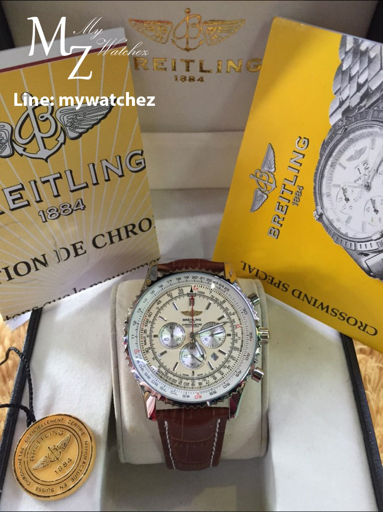 Breitling Navitimer 01 - White Dial and Brown Leather Strap
