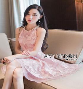 Lady Ribbon Dress Mini Dress Pink Dress