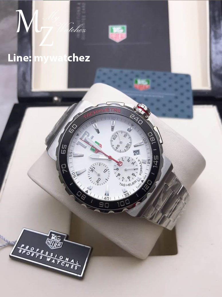 Tag Heuer Formula 1 Chronograph White Dial Stainless Steel