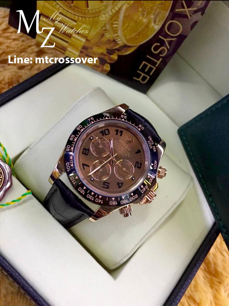 Rolex Cosmograph Daytona - Brown Dial Brown Bezel and Leather Strap