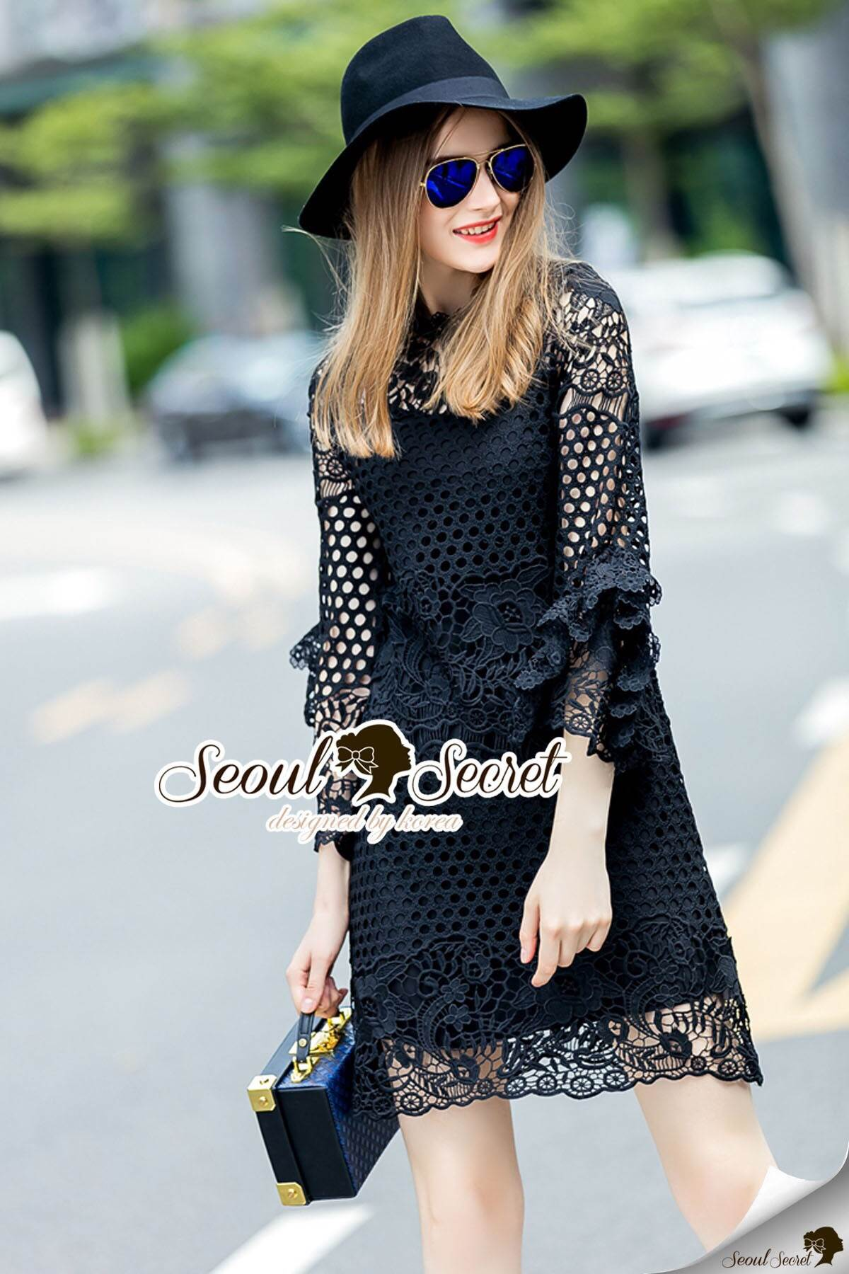 Seoul Secret Say's... Layer Sleeve Princess Lace Dress