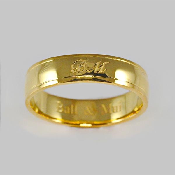 แหวนทองคำแท้ แหวนคู่รักสลักชื่อ