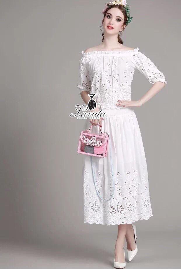 Korea Design By brand cliona Lavida casual sleeve lace scottish patchwork loose dress code1645