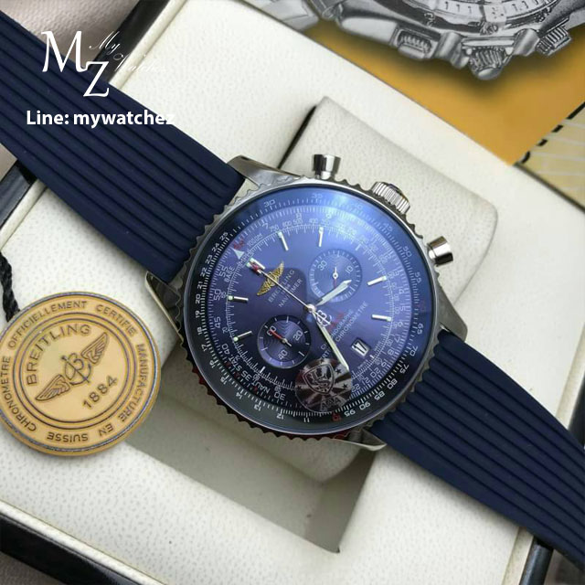 Breitling Navitimer 01 - Bue dial Rubber Chronograph