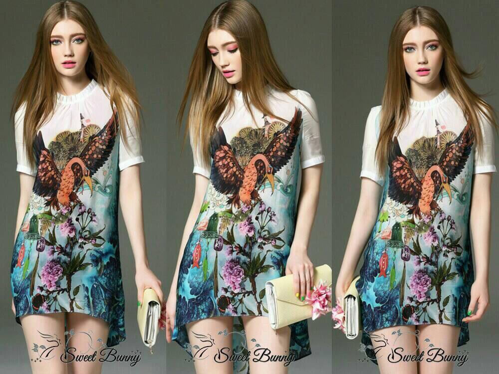 Lady Ribbon Korea Closet SB04300516 Sweet Bunny Present... Botanical Garden Print Dress