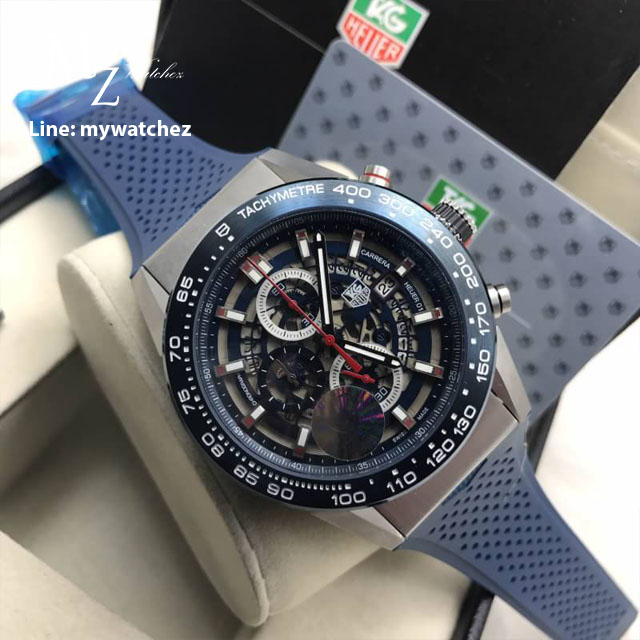 TAG HEUER CARRERA Calibre HEUER 01 Qurtaz Chronograph 45 MM - Blue Strap