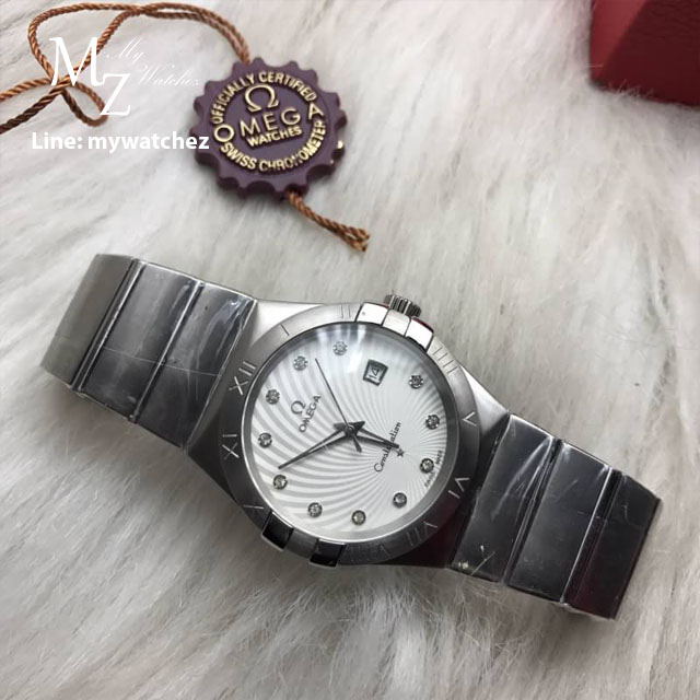 Omega Constellation Co-Axial 38MM - White Dial Stainless