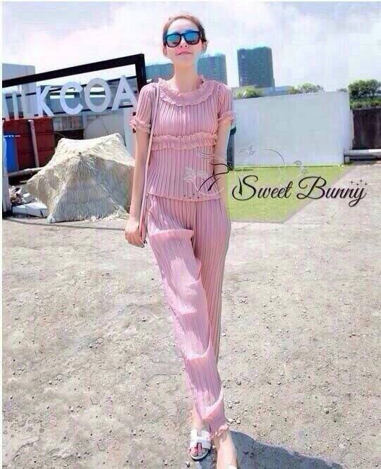 Lady Ribbon Korea Closet SB16300516 Sweet Bunny Present... Pleated Pants Set