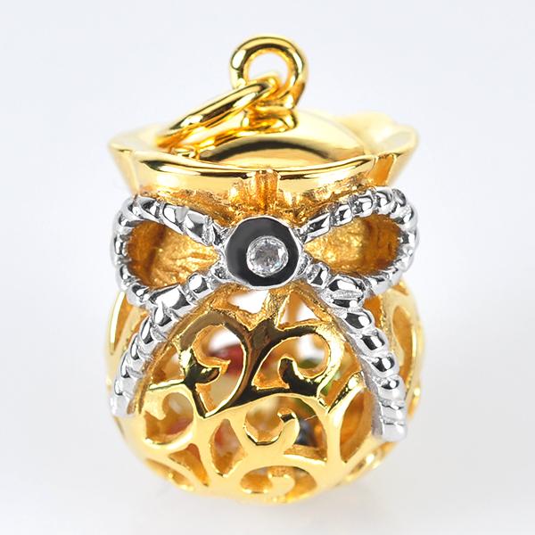 จี้ถุงทองพลอยนพเก้า ชุบทองคำ