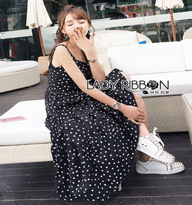 Lady Ribbon Dress Layered Cotton
