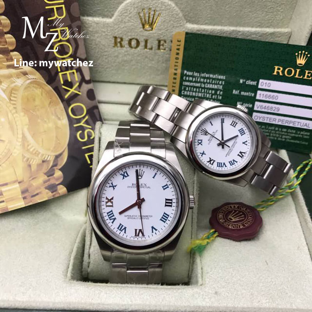 Rolex Oyster Perpetual White Dial Roman