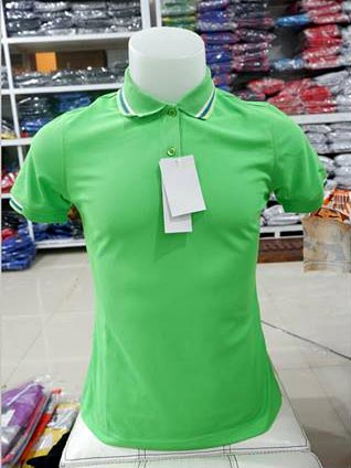 เสื้อโปโลสำเร็จรูป สีเขียวอ่อน