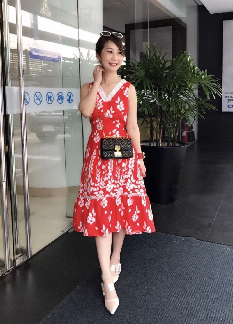 เสื้อผ้าแฟชั่นเกาหลี Lady Ribbon Thailand Morning Posh Present D.S.Y new collection summer dress