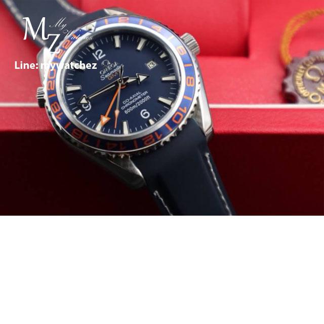 Omega Seamaster Planet Ocean GMT Blue Dial Men Watch