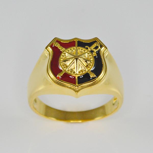 แหวนทองคำแท้ สลักรูปภาพ ลงยา