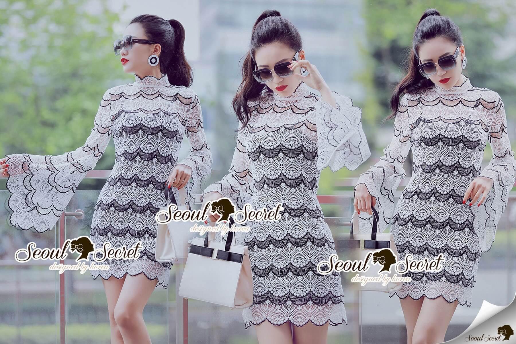 Seoul Secret Say's... Stylishness Laver Lace Belly Dress