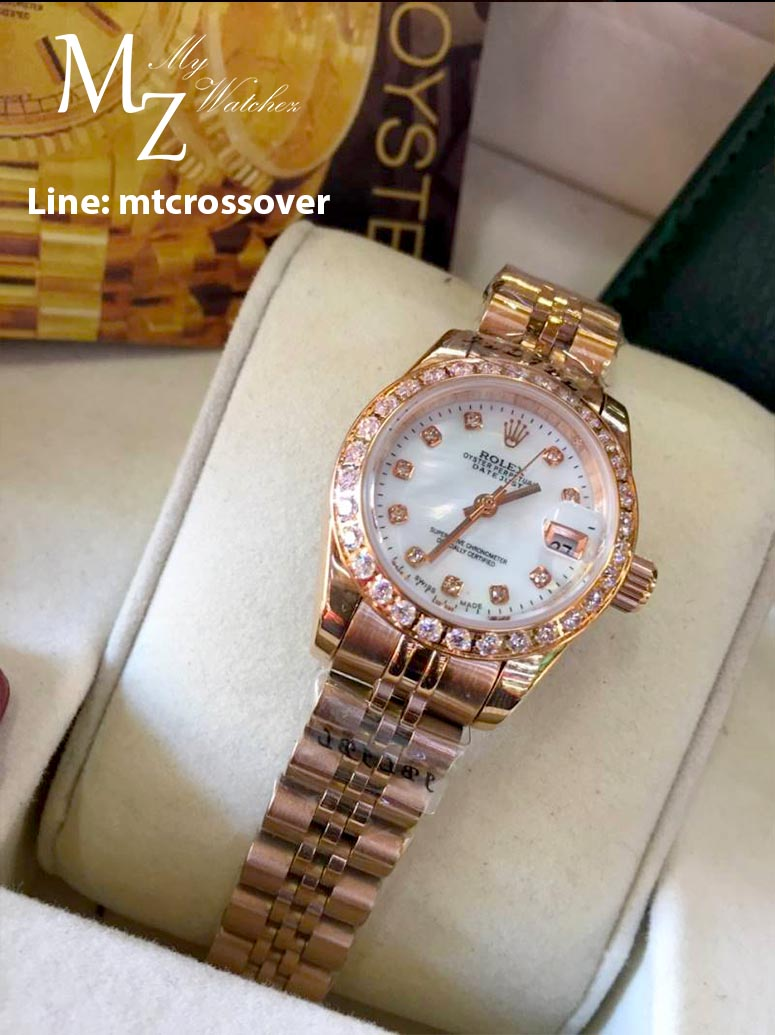 Rolex Datejust Lady - White Dial and Yellow Gold