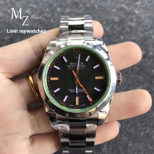 นาฬิกาก๊อป Rolex Milgauss เกรด Mirror และ เกรด Swiss