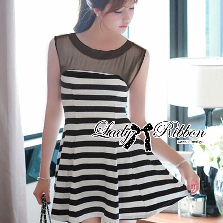 &#x1F380 Lady Ribbon's Made &#x1F380 Lady Suzi Basic Chic Striped Mini Dress