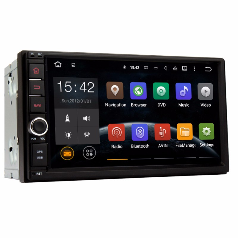 "7"" 2Din 1024*600 Android 4.4 Car Tap PC Tablet 2 din Universal For Nissan GPS Navigation BT Radio Stereo Audio Player"