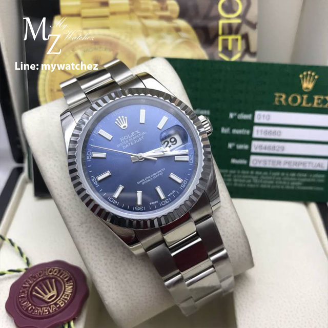 Rolex Oyster Perpetual Datejust 41 Basel 2017 - Blue Dial