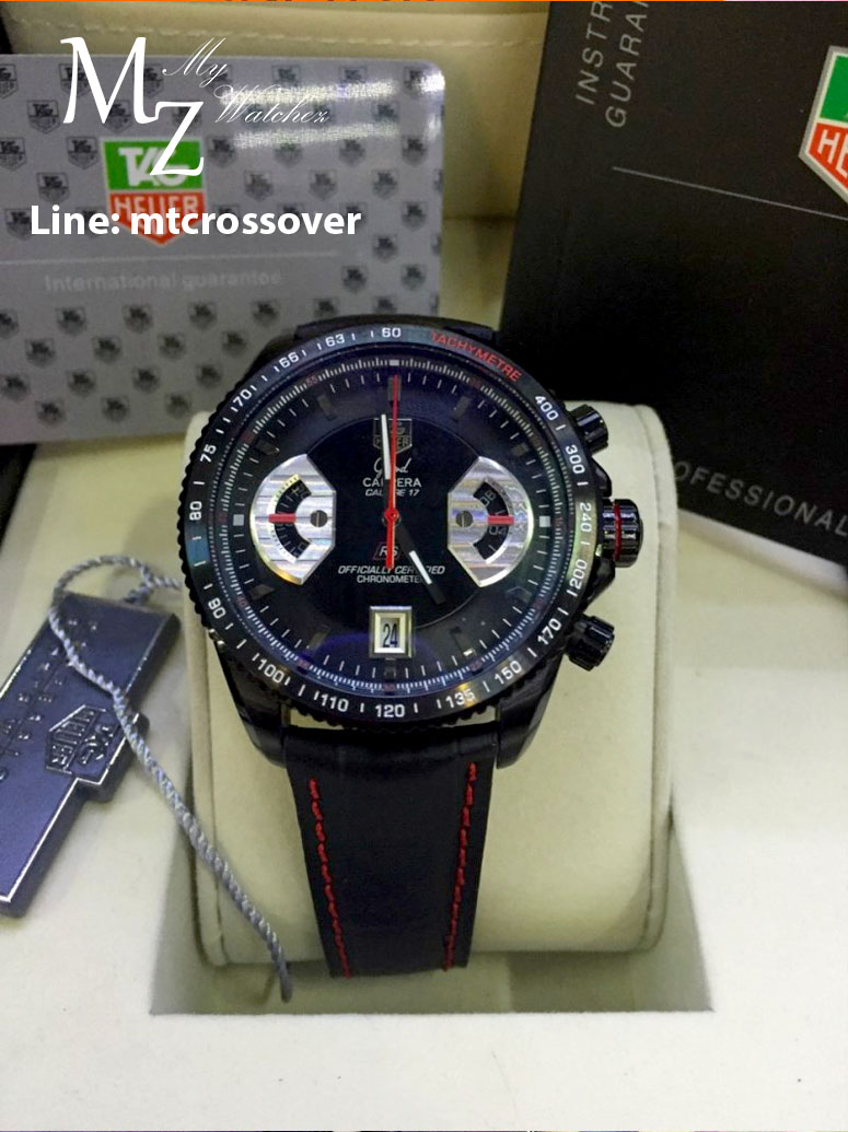 TAG HEUER Grand Carrera 17RS Caliper Chrono - Black and Red