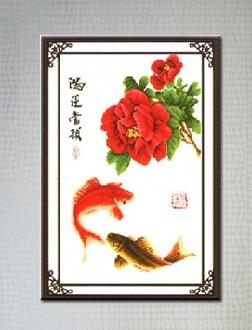 Fishs and Rose (พิมพ์ลาย)